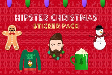 The Hipster Christmas Sticker Pack  Puzzle London