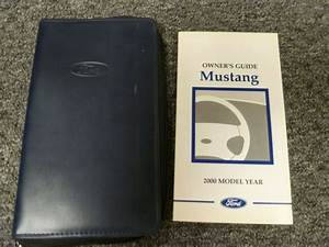 2000 Ford Mustang Coupe Convertible Owner Manual Set Gt