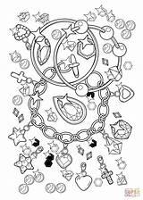 Coloring Bracelet Diamonds Pendant Printable Paper sketch template