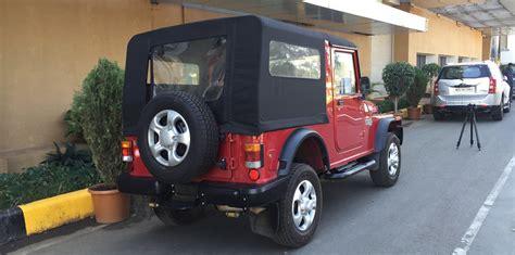 mahindra jeep 2016 mahindra thar quick drive review