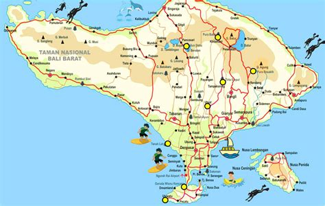bali map offers complete bali tourism maps indonesia