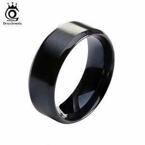 2016 new fashion titanium steel ring high quality black With black wedding rings for men
