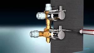 Robinet De Douche Encastrable : robinet thermostatique douche 3 sorties nova youtube ~ Dailycaller-alerts.com Idées de Décoration