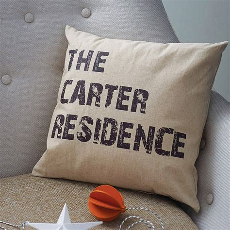 Personalised Home Cushion By Tillyanna