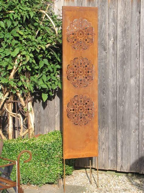 Sichtschutz Garten Edelrost edelrost sichtschutz paravent mandala garden dekoshop