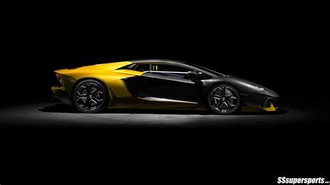 yellow  black lamborghini aventador pic sssupersports