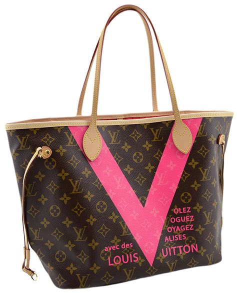 louis vuitton fuchsia monogram  neverfull mm shopper tote