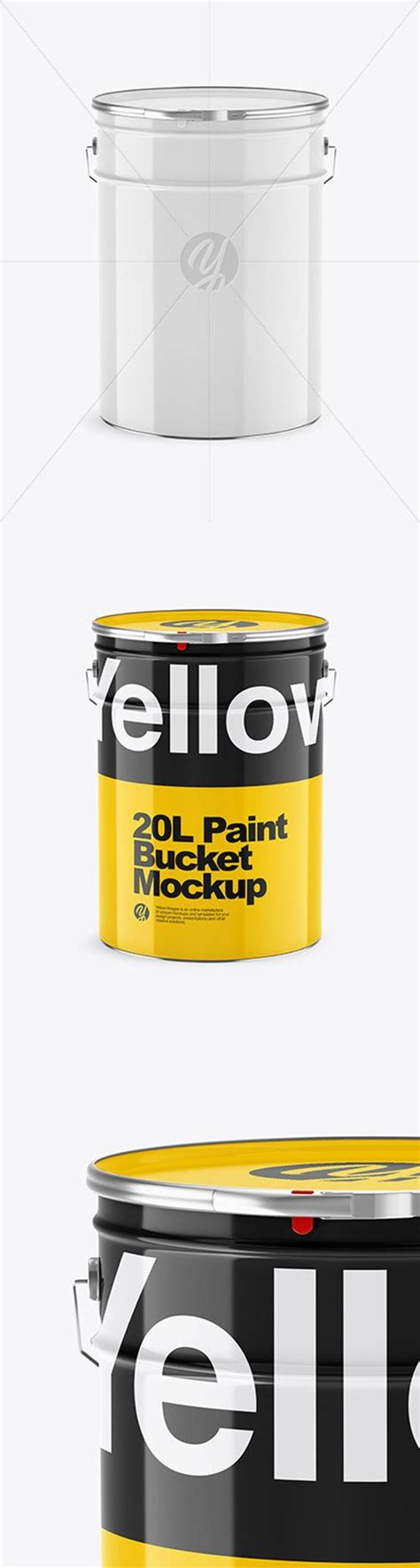 20 striking packaging designs you have to see. 20L Glossy Paint Bucket Mockup 65166 » NitroGFX - Download ...