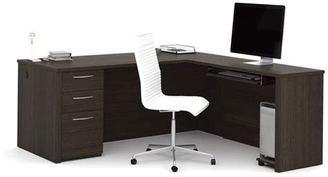 bestar embassy chocolate 71 quot l shaped desk embassy