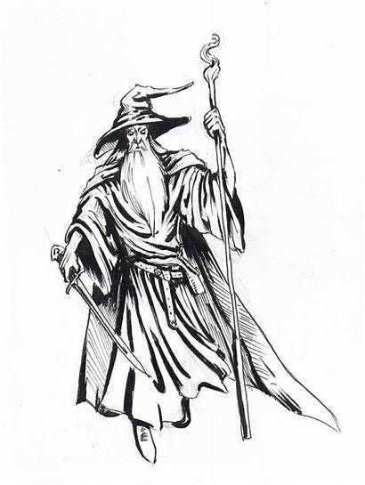 Gandalf Clipart Drawings 02kb 1030px