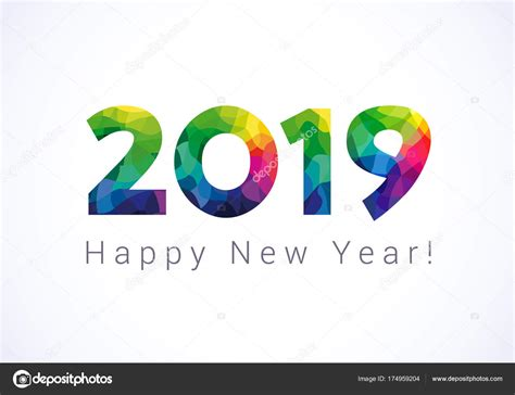 2019 Happy New Year Groeten Abstract Vieren Feliciteren