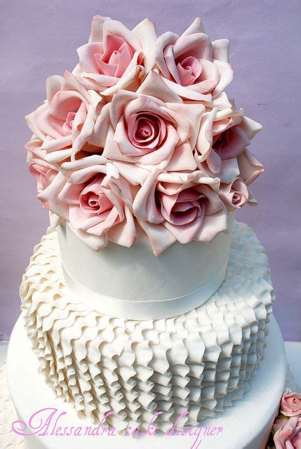 Wedding Cake Ruffles and Roses