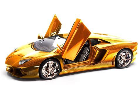 Solid Gold Lamborghini Aventador 1 8 Scale Model