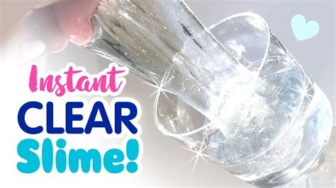 diy instant clear slime  waiting  bubbles