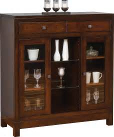 China Cabinet Hutch by Bears In The Woods Amish Furniture Hampton Small China