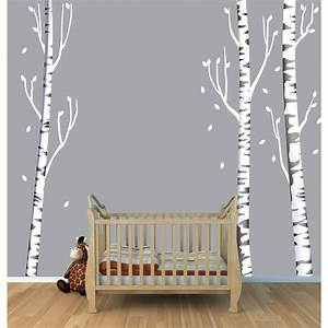 wall decal white birch tree wall decal decorations white With cheap tree wall decal target