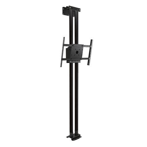Peerless Ceiling Pole Mount by Peerless Modular Series Dual Pole Floor To Wall Kit Black