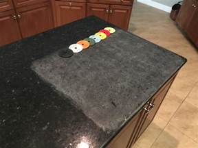 cleaning polishing granite kitchen countertop concrete