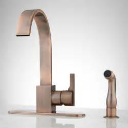 kitchen faucets copper aster kitchen faucet with side spray antique copper ebay