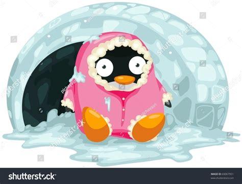 Illustration Isolated Cartoon Penguin On White Stock