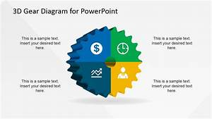 3d Gear Diagram Template For Powerpoint
