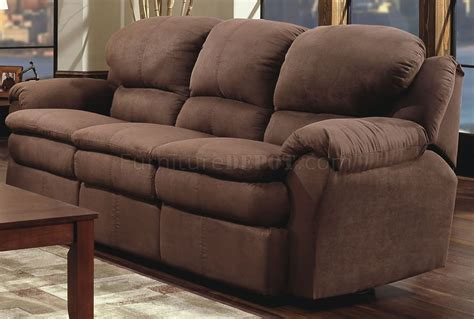 Reclining Microfiber Sofa And Loveseat Set by Chocolate Microfiber Modern Reclining Sofa