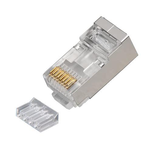 platinum tools  rj shielded cat  pc  solid  prong  liner connector jar