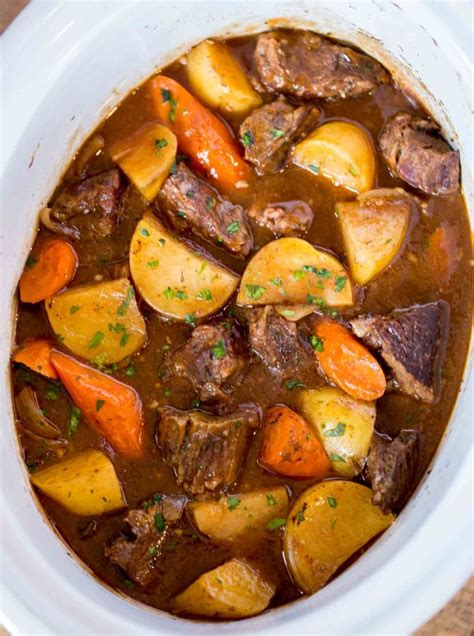 Ultimate Slow Cooker Beef Stew  Dinner, Then Dessert
