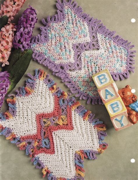 Broomstick Ripple Lace Baby Afghan Crochet Pattern Infant