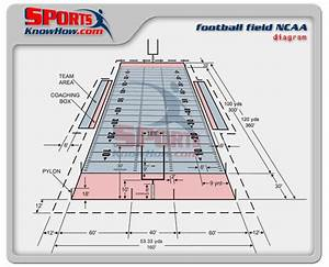 College NCAA Football Field Dimension Diagram | Court ...