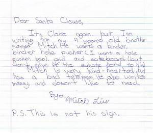 the 30 funniest letters to santa from kids of all time of With interesting christmas letters