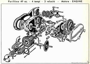 Parilla 1958 49cc Parillino Engine Diagram