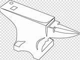 Anvil Blacksmith Drawing Diagram Tool Clipart Metalsmith Coloring Transparent Hiclipart sketch template