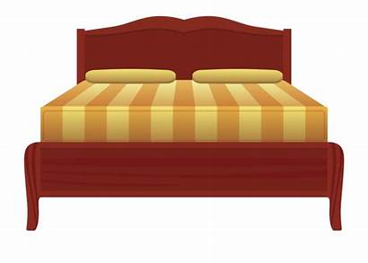 Bed Clipart Sheet Nightstand Frame Library Transparent