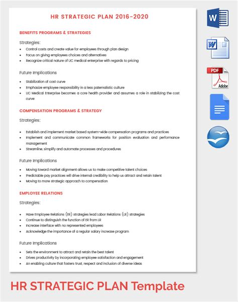 Hr Strategic Planning Template hr strategy template 39 word pdf documents