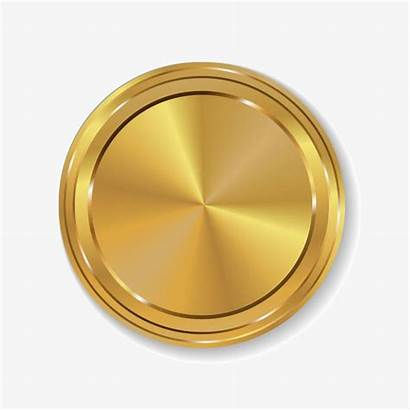 Circle Gold Clipart Golden 3d Simple Medal