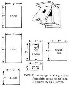 Tree Swallow Bird House Plans