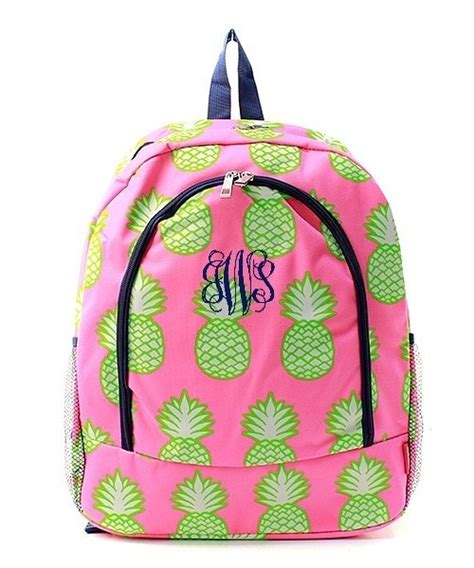 personalized backpack  monogram bookbag book tote bag