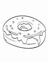 Donut Coloring Donuts Printable Bestcoloringpagesforkids Sheets Cartoon Drawing Popular sketch template