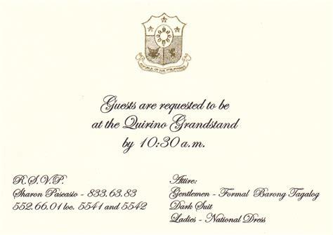 Safe Travel Invitation Attend The Inauguration