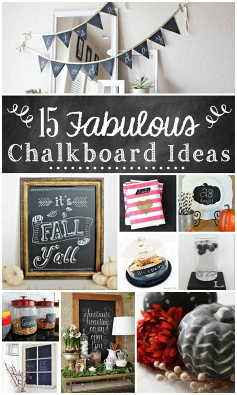 Home Design Ideas Blackboard by 15 Fabulous Chalkboard Ideas The Turquoise Home