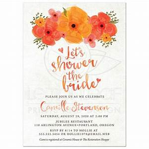 Bridal Shower Invitations - Watercolor Summer Garden Florals