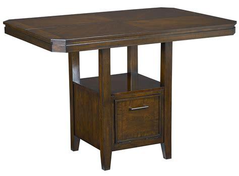 counter height table base counter height table with pedestal base and single drawer