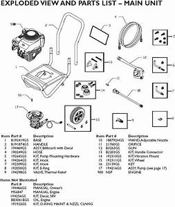 Briggs  U0026 Stratton Pressure Washer Model 020215 Replacement