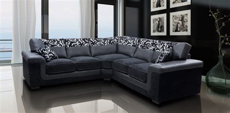 Leather Corner Settee by Harmony Corner Sofa Black Faux Leather Fabric Settee