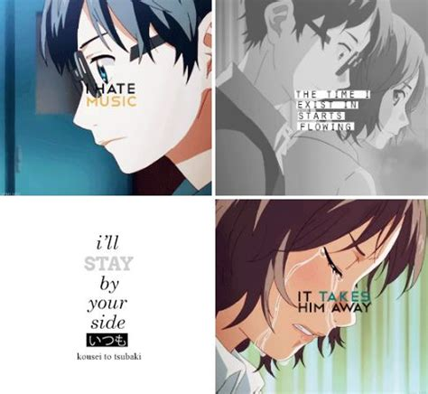 Your Lie In April Tsubaki Quotes