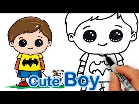 draw  cute boy easy youtube
