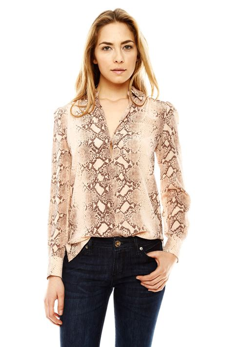 blouses and dresses acrobat snake print blouse from houston by à bientôt