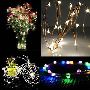 2m, 20led, Outdoor, Silver, Wire, String, Fairy, Lights, Lamp, Party, Home, Flower, Vase, Wedding, Decoration