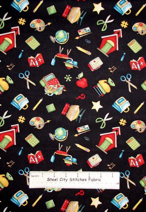 school classroom motif toss fabric ssi its